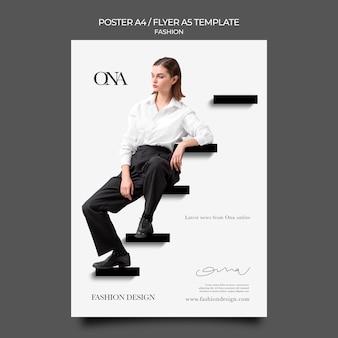 Modelo de impressão de design de moda