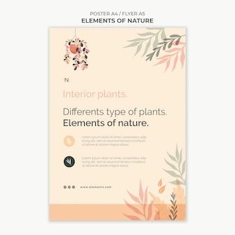 Modelo de impressão de elementos da natureza