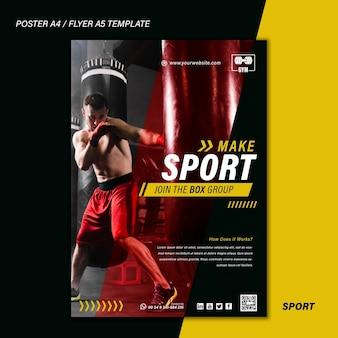 Modelo de impressão de esporte com foto
