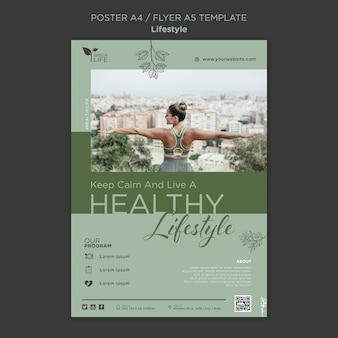Modelo de impressão de estilo de vida saudável
