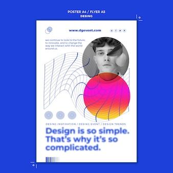 Modelo de impressão de evento de design