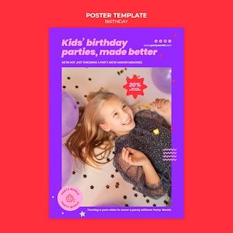 Modelo de impressão de festa de aniversário