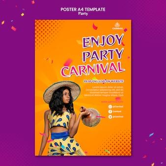 Modelo de impressão de festa de carnaval