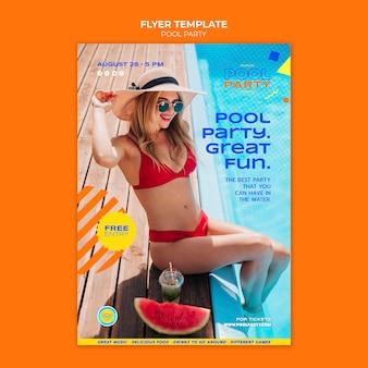 Modelo de impressão de festa na piscina