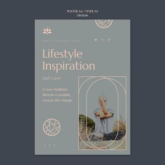 Modelo de impressão de inspiração de estilo de vida