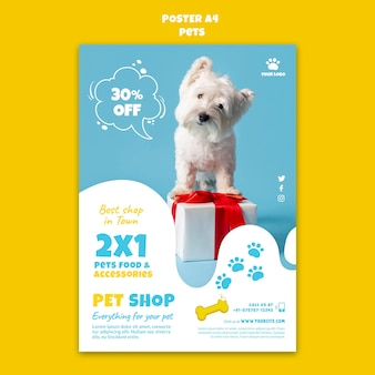 Modelo de impressão de loja de animais de estimação