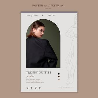 Modelo de impressão de moda com foto
