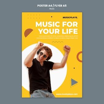 Modelo de impressão de música para todos
