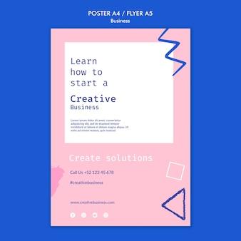 Modelo de impressão de negócios criativos