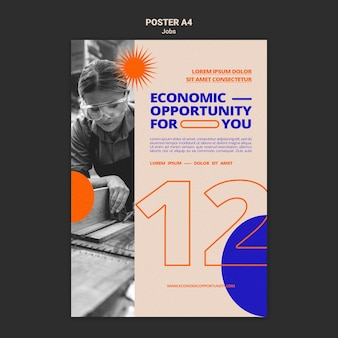 Modelo de impressão de oportunidade de trabalho