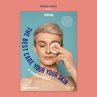 Modelo de impressão de produto de beleza e cuidados com a pele
