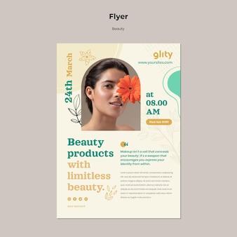 Modelo de impressão de produto para cuidados com a pele