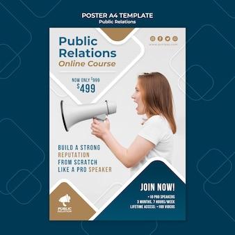 Modelo de impressão de relações públicas