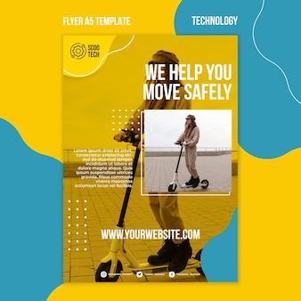 Modelo de impressão de scooter com foto