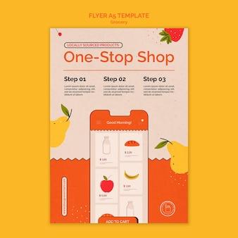 Modelo de impressão de serviço de entrega de supermercado