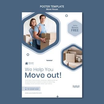 Modelo de impressão de serviço de mudança de casa