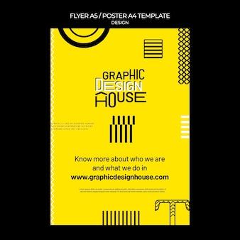 Modelo de impressão de serviços de design gráfico