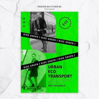 Modelo de impressão de transporte ecológico