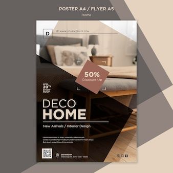 Modelo de impressão de vendas de decoração para casa