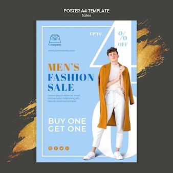 Modelo de impressão de vendas de moda