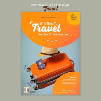 Modelo de impressão de viagem criativa
