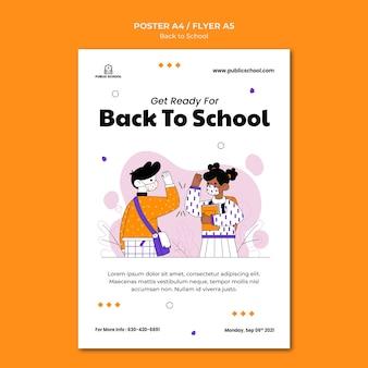 Modelo de impressão de volta às aulas