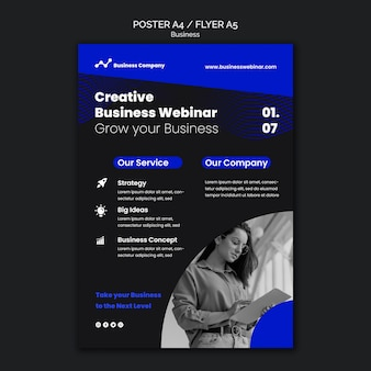 Modelo de impressão de webinar de negócios