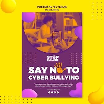 Modelo de impressão - diga não ao cyber bullying