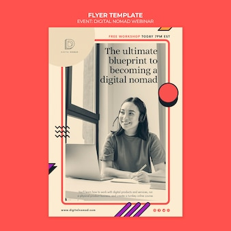 Modelo de impressão digital nômade