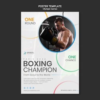 Modelo de impressão do campeão de boxe
