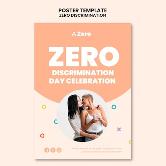 Modelo de impressão do dia de discriminação zero