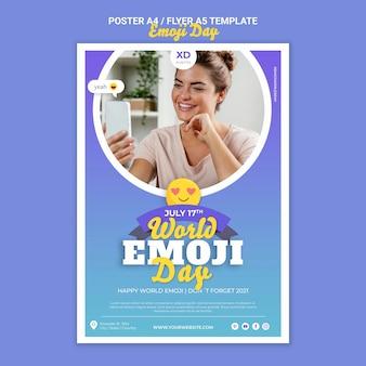 Modelo de impressão do dia de emoji