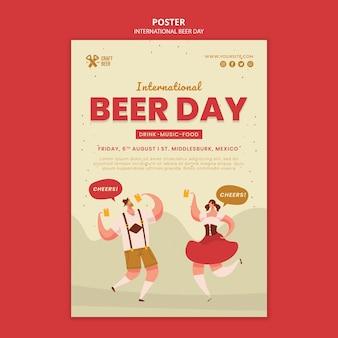 Modelo de impressão do dia internacional da cerveja