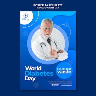 Modelo de impressão do dia mundial da diabetes criativa