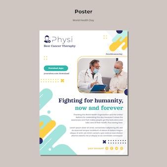 Modelo de impressão do dia mundial da saúde