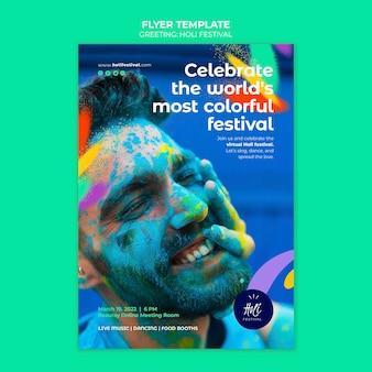 Modelo de impressão do festival holi
