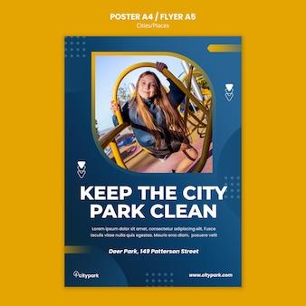 Modelo de impressão do parque da cidade