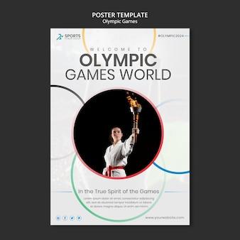 Modelo de impressão dos jogos olímpicos