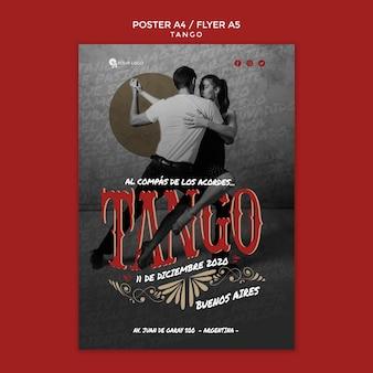 Modelo de impressão - panfleto coreografia tang
