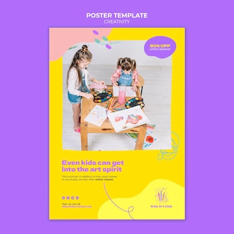 Modelo de impressão para crianças criativas
