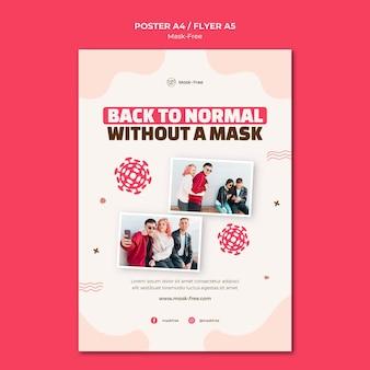 Modelo de impressão sem máscara