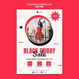 Modelo de impressão vertical black friday