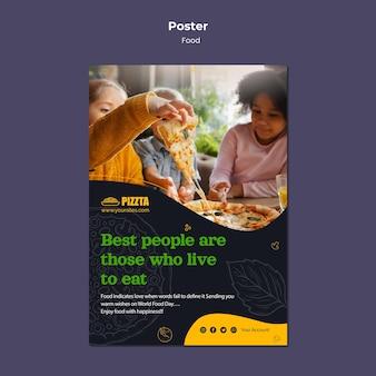 Modelo de impressão vertical de boa comida