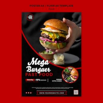 Modelo de impressão vertical de fast food