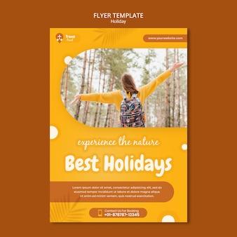 Modelo de impressão vertical de férias