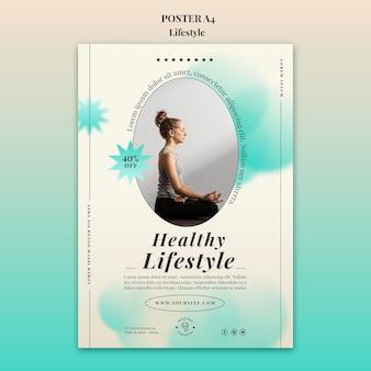 Modelo de impressão vertical de ioga