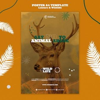 Modelo de impressão vertical de lazer e vida selvagem
