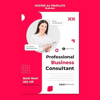 Modelo de impressão vertical de negócios