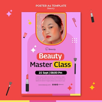 Modelo de impressão vertical de produtos de beleza