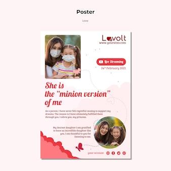 Modelo de impressão vertical para família